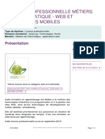 Program Web Et Applications Mobiles