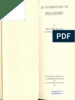 An Introduction to Philosophy (Pt. 1) - Msgr. Paul Glenn. S.T.D. 1944