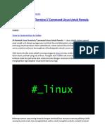 24 Perintah Linux Terminal