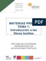 01.1. Clasificación de Las Fibras Textiles