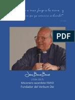 Biografía de  Jaime Bonet fundador del Verbum Dei