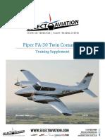 SA PA30 Twin Comanche Training Supplement