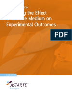 Effect of Culture Medium on Experimental Outcomes