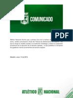 Comunicado #21 Atlético Nacional
