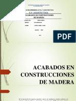 Acabados en Madera