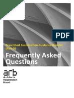 Prescribed Examination Guidance Faq