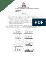 Lista de Exercicio- Nanomateriais
