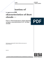 Determination of Explosion Characteristics of Dust Clouds