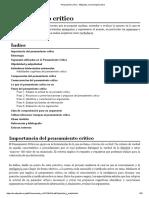 Pensamiento Crítico - Wikipedia, La Enciclopedia Libre