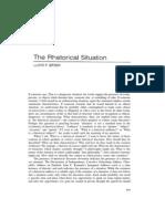 Bitzer - The Rhetorical Situation PDF