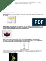 Tipos de Vasos y Copas