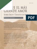 Lo Que El Más Grande Amor Eros y Tanatos en Neruda Por Hernán Loyola