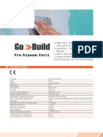Go-build - ro-gypsum Putty - Technical Datasheet