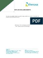NDU 002 - Fornecimento de Energia Elétrica Em Tensão Primária