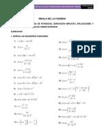 Practica de Ejercicios Calculo i Regla de La Cadena, Implicita