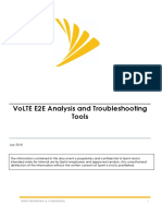 VoLTE E2E Analysis Troubleshooting Tools