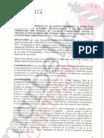 Propuesta de Alcaldía del acuerdo transaccional