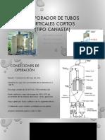 Evaporador de Tubos Verticales Cortos(Canasta)