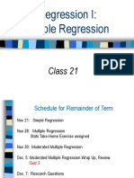 Class 21 Regression