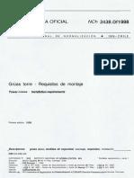 NCh 2438 Of1998 Grúas Torre - Requisitos de montaje.pdf