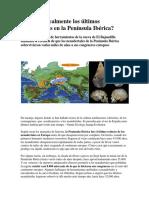 Vivieron Realmente Los Últimos Neandertales en La Península Ibérica