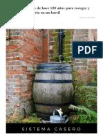 Sistema Para Recoger y Filtrar Agua de Lluvia