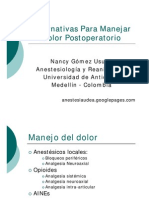 Alternativas Manejo Dolor Post Opera to Rio