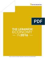 Overview and Performance of the Lebanese Economy in 2016