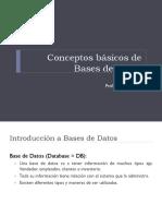 Conceptos de Base de Datos