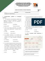 Examen de Español III Tercer Trimestre