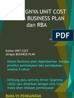 7. Unit Cost 8 Business Plan Rba
