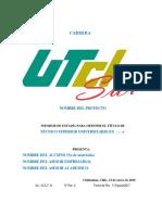 Aca-f-14 Formato Informe de Estadías