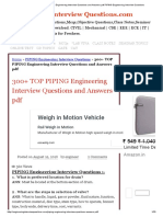 300+ TOP PIPING Engineering Interview Questions and Answers pdf PIPING Engineering Interview Questions.pdf