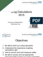 Drug Calculations 2015