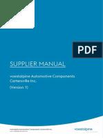 Supplier Manual VACCV