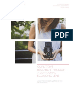 Qualitative Research Through a Behavioral Economics Lens