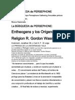 La Busqueda de Persepphone, R. Gordon Wasson