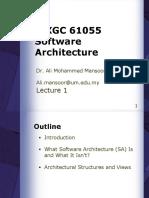 1. Software Architecture