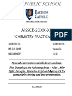 Chemistry Aissce Project File SETTING of CEMENT