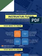 Tugas Dan Fungsi Instruktur Dalam Memfasilitasi Pembelajaran Daring