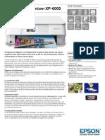 Expression Premium XP 6005 Datasheet