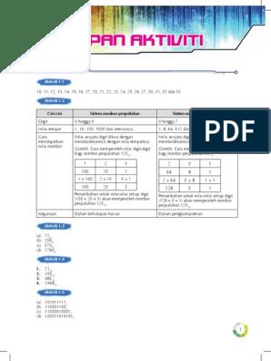 Jawapan Buku Latihan Ask Tingkatan 2