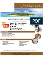 Job Ad Royal Island Resort & Spa