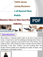 Shoe Polish Spray Manufacturing Business