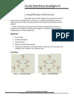 Laboratório 1 - Amplificador Diferencial