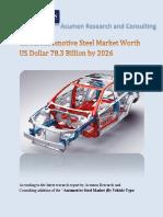 Global Automotive Steel Market Worth US Dollar 78.3 Billion by 2026