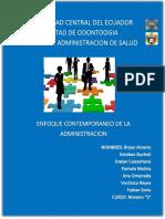 Monografia de Administración Enfoque Contemporaneo