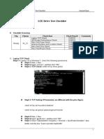 LTE Drive Test Checklist v0.1