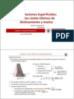 Tema 1c.- Cimentaciones Superficiales_ELU Deslizamiento y Vuelco