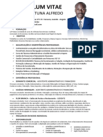 Curriculum Vitae - Manuel Fortuna Alfredo 2019